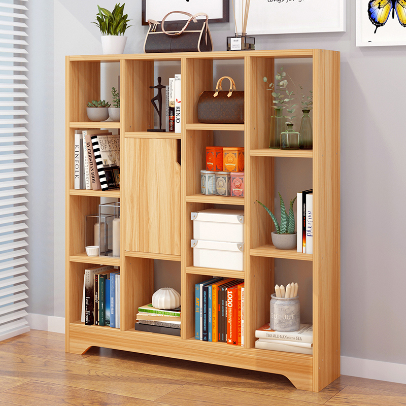 亿家达书架落地 书柜简约现代 创意置物架简易经济型架子客厅省空间书橱