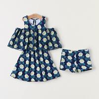 儿童游泳衣女童女孩泳装婴儿分体套装宝宝分体小中大童