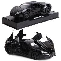 莱肯跑车儿童玩具 速度与激情7合金车模型1:32声光回力小汽车
