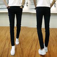 牛仔裤男士弹力修身款小脚裤显瘦学生长裤