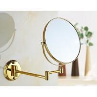 仿古浴室壁挂化妆镜折叠梳妆镜复古卫生间伸缩镜子双面放大美容镜