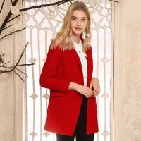 冬装新品 西装领双面呢大衣宽松羊毛外套X640171D11