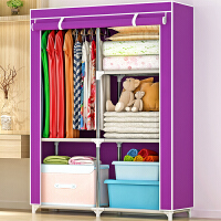 索尔诺布衣柜 加固钢架简易衣橱 简易衣柜 组装衣柜1401