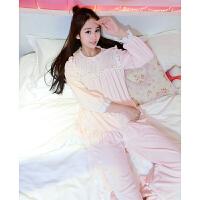 秋冬季珊瑚绒睡衣女冬长袖韩版甜美可爱保暖加厚法兰绒家居服套装