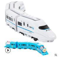 新颖创意电动万向玩具车 动车组和谐号火车玩具地摊热卖儿童玩具