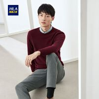 HLA/海澜之家经典圆领长袖羊绒衫2019冬季新品温暖柔软套头衫男