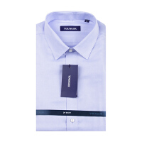 Youngor/雅戈尔秋款男商务正装蓝纯棉免烫长袖衬衫TP15053KJA/HJA