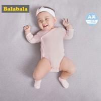 【2件6折】巴拉巴拉男婴儿新生儿连体衣夏装2018新款三角衣透气抱衣爬服哈衣
