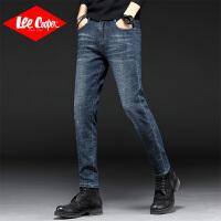 Lee Cooper新款男裤英伦时尚个性性猫须显瘦舒适牛仔裤男