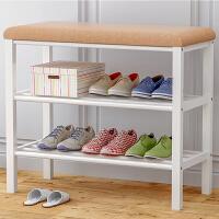 索尔诺鞋架换鞋凳 鞋柜多功能门厅玄关柜 多层家用穿鞋储物凳收纳简约矮凳子671