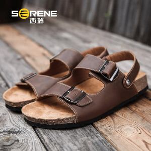 西瑞凉鞋男韩版夏季青少年沙滩鞋两穿学生一字拖鞋时尚外穿潮百搭2192