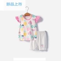 婴儿短袖套装夏季宝宝纯棉女童衣服2018新款儿童两件套夏装1-3岁