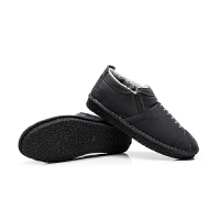 布鞋男韩版潮流休闲板鞋男士冬季棉鞋加绒鞋子男保暖帆布鞋