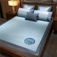 黄古林御藤席1.8米可折叠加厚凉席夏季双人床空调1.5m米床三件套
