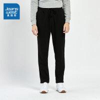 [限时抢:76.9元,真维斯周末狂欢仅限10.12-14]真维斯男装 冬装新款 弹力不倒绒布休闲长裤
