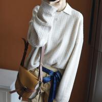 慵懒风毛衣女宽松套头羊绒打底衫毛针织衫短款加厚xin秋冬季韩版