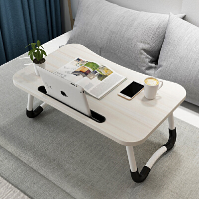 亿家达床上小桌子家用可折叠懒人学生宿舍卧室学习做桌简约笔记本电脑桌