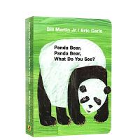 #英文原版绘本纸板书 Panda Bear What do you see 艾瑞卡尔爷爷经典 Eric Carle 常
