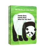 英文原版绘本纸板书 Panda Bear What do you see 艾瑞卡尔爷爷经典 Eric Carle 常青