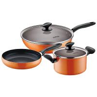 supor苏泊尔T1363K厨房锅具套装组合不粘锅套装锅两件套 煎锅 汤锅