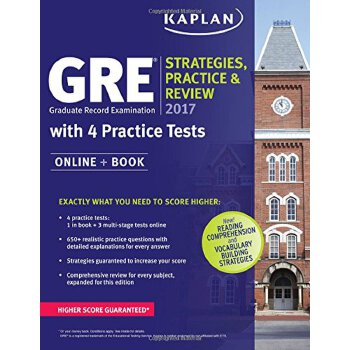 GRE 2017 Strategies, Practice & Review with 4 Practice Tests【英文原版】GRE2017年考试技巧、练习和复习带4套练习卷