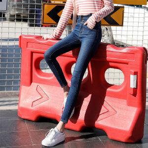新款女装打底牛仔裤2018韩版修身显瘦小脚裤子夏季弹力铅笔裤子