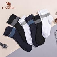 CAMEL骆驼6双装袜子男中筒棉质吸汗防臭棉袜男士透气运动薄款长袜