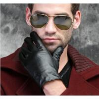 男士 男冬真皮手套 加厚简约保暖 商务开车头层 羊皮