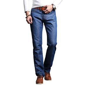 1号牛仔 2017年新男士牛仔裤中腰韩版牛仔裤男装修身直筒长裤