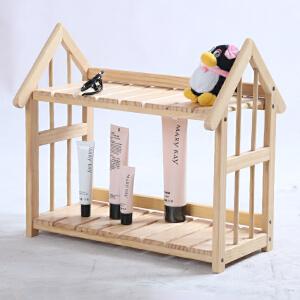 【每满100-50】幽咸家居 书架 创意心怡小屋置物架实木桌上小书架简易收纳架 厨房整理架