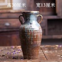 手工粗陶大陶罐坛子复古花器 插花花瓶景德镇陶瓷陶艺装饰摆件