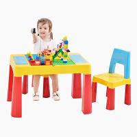 儿童积木桌子幼儿园乐高宝宝桌椅套装塑料游戏拼装玩具