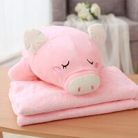 可爱多功能午睡枕头抱枕被子两用办公室汽车靠垫被三合一毯子