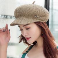 2018新款妈妈帽春秋薄款鸭舌帽中年女士韩版贝雷帽子时尚透气百搭 可调节