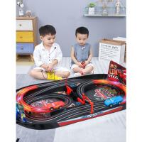 男孩双人汽车轨道赛车儿童玩具电动遥控玩具
