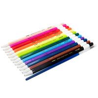 按动彩色铅笔12/24/36色儿童彩铅宝宝涂鸦用可替换芯彩色画笔