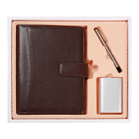笔记本文具 商务 移动电源 办公记事会议本 创意 礼品 礼盒 套装 活页本 定制