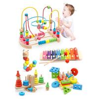 幼儿童力形状认知拼图玩具宝宝1-2周岁3男孩女孩数字早教积木