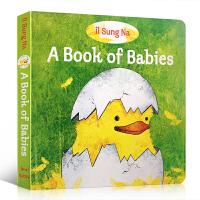 【全店300减100】英文原版 A Book of Babies 宝宝的书 低幼纸板 绘本 纸板书 伊尔宋娜作品 启蒙睡