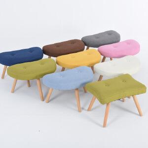 门扉 凳子 布艺凳子换鞋凳沙发凳梳妆凳小板凳实木脚凳子