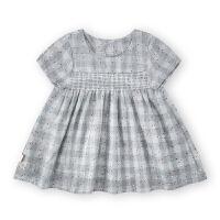 夏季新款女宝宝后开扣娃娃裙婴儿夏季连衣裙子