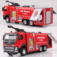 彩珀沃尔沃工程汽车模型仿真儿童声光合金车模消防车卡车男孩玩具