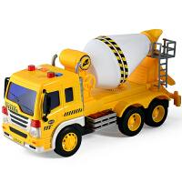 儿童玩具车男孩子大号惯性滑行搅拌车工程车带声光讲故事军事战车
