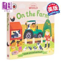 【中商原版】Little World: On the Farm 企鹅小世界农场 低幼亲子益智游戏操作书翻翻书 纸板书 英