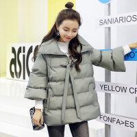 2018冬装韩版女装小个子中长款外套a字型棉袄甜羽绒潮