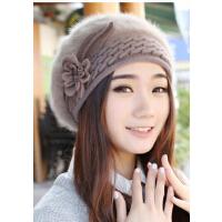 秋冬贝雷帽女韩版冬天女士帽子兔毛帽时尚加厚保暖潮
