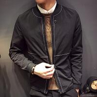 新款秋季男士外套韩版修身帅气外套男春秋夹克衫S码发型师潮外衣