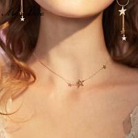 简约百搭锁骨链女气质个性星星吊坠大气项链脖子饰品