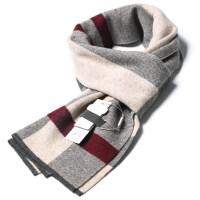 男士含羊毛线围巾男冬季韩版百搭简约仿羊绒年轻人围脖礼盒装