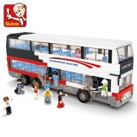 兼容乐高积木拼装汽车儿童校车巴士货车公交车城市系列组装玩具儿童节礼物